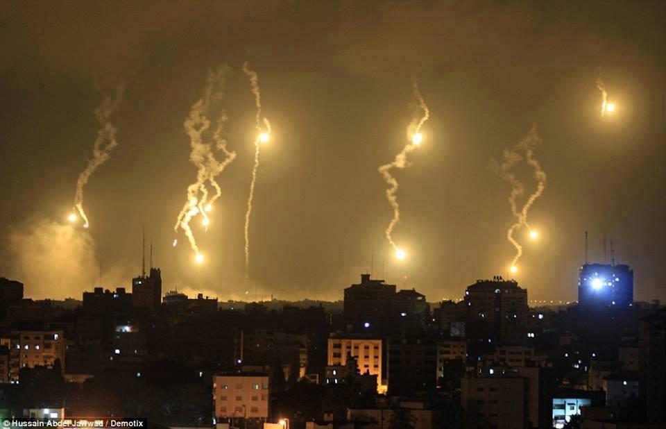 bombing gaza city