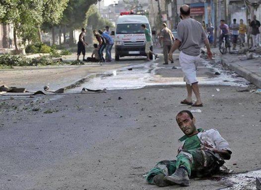 ferito palestinese
