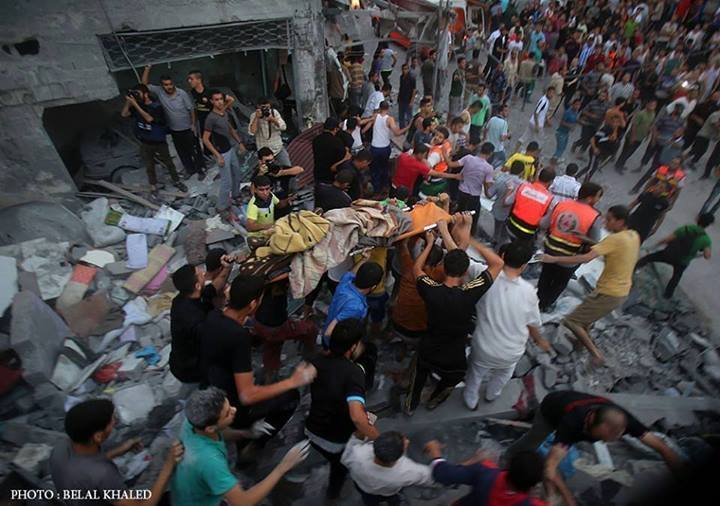 macerie morti gaza