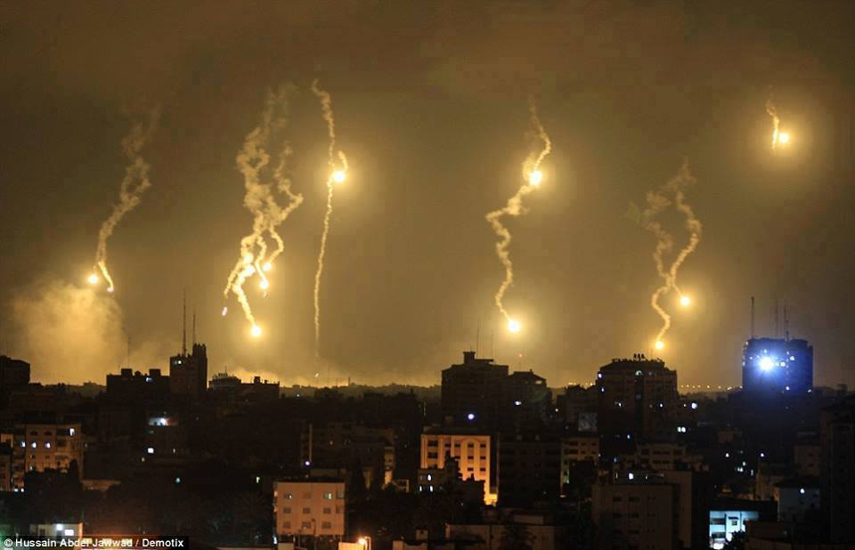 bombing gaza city