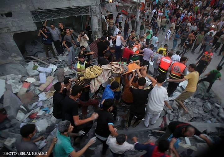 macerie morti gaza