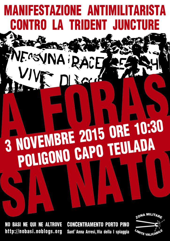 manifesto_3 novembre teulada_contro la trident juncture