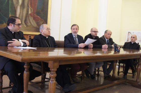 Conferenza stampa per la presentazione del progetto Sacro Cuore e la concessione del compendio da parte del Comune (Foto: La Nuova Sardegna)